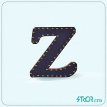Black monogram authorization letter , name board wall wood letter