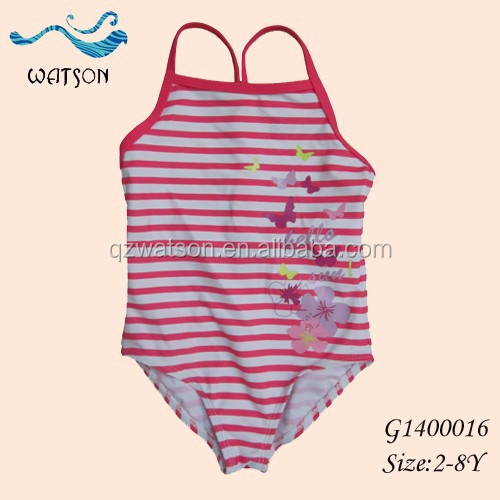 Flower And Butterfly Custom Made Kids Bathing Suit