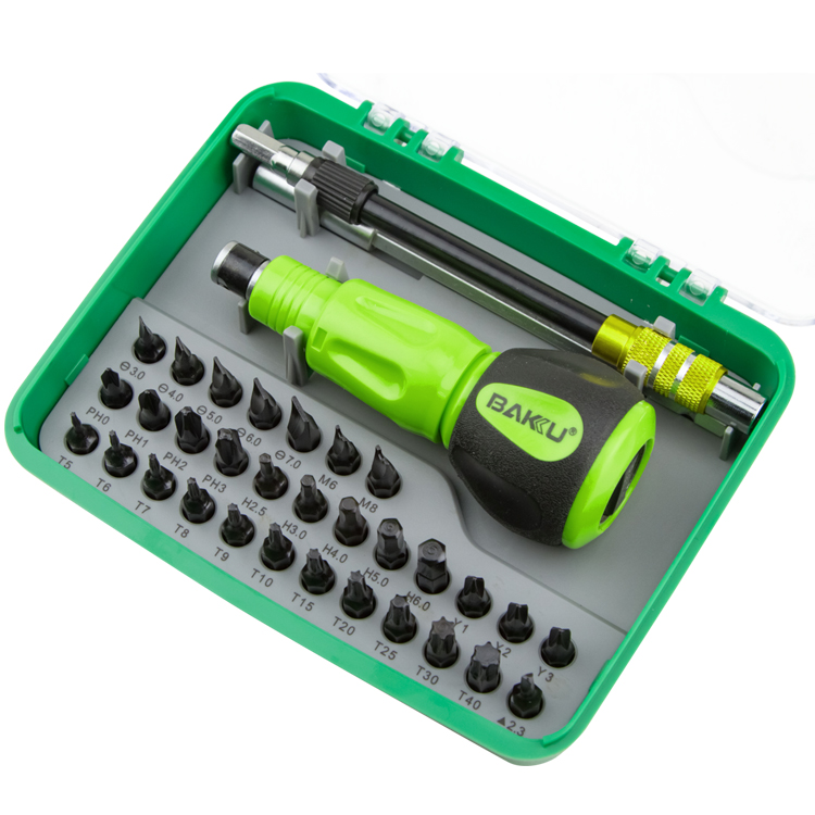 BAKU new products BK-3034 34 in 1 Mechanical Screwdriver Set As professional hardware mobile phone repairing tools