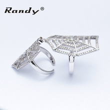 Low Price Fantasy Modern Style 925 Sterling Silver Full Finger Knuckle Ring