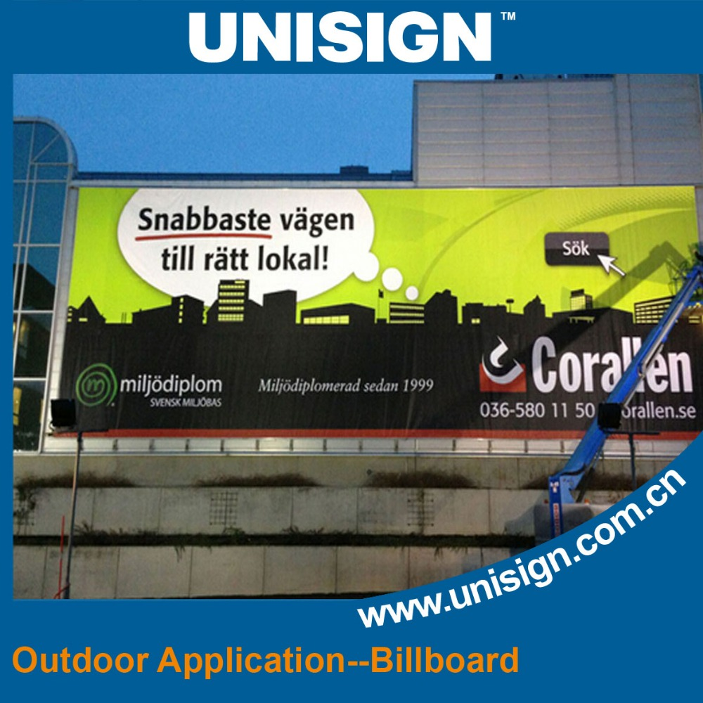 September Unisign Promotional 440gsm(13oz) 300D*500D 440g outdoor waterproof signage