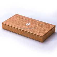 New Design PU Leather Wooden Desktop Pencil Case