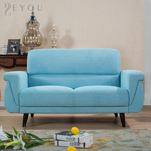 Affordable modern blue wooden loveseat sofa set for apartments