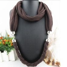 New Arrival Braid Women Loop Scarf Pattern Necklace
