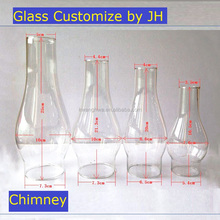 Glass oil lamp shade and glass chimney protection glass table lamp candle shade chimney