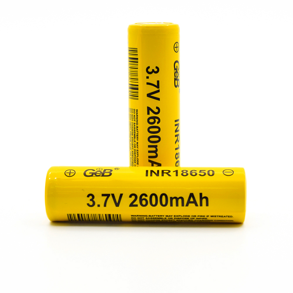 High quality cylindrical 3.7v 2600mah rechargeable lithium 18650 <strong>battery</strong>
