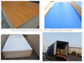 18*1220*2440mm wooden grain color furniture grade melamine laminated coated plywood