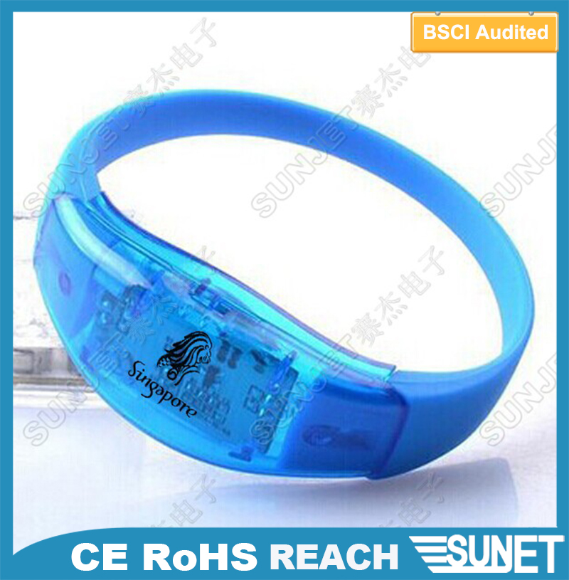 China wholesale printing logo blinking handmade string bracelet