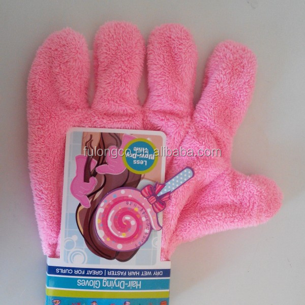 Hot selling quick dry hair glove100% cotton salon hair towel for beauty salon