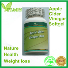 600 mg and ISO,GMP Certificate and OEM Private Label Apple Cider Vinegar Softgel for Weight Control