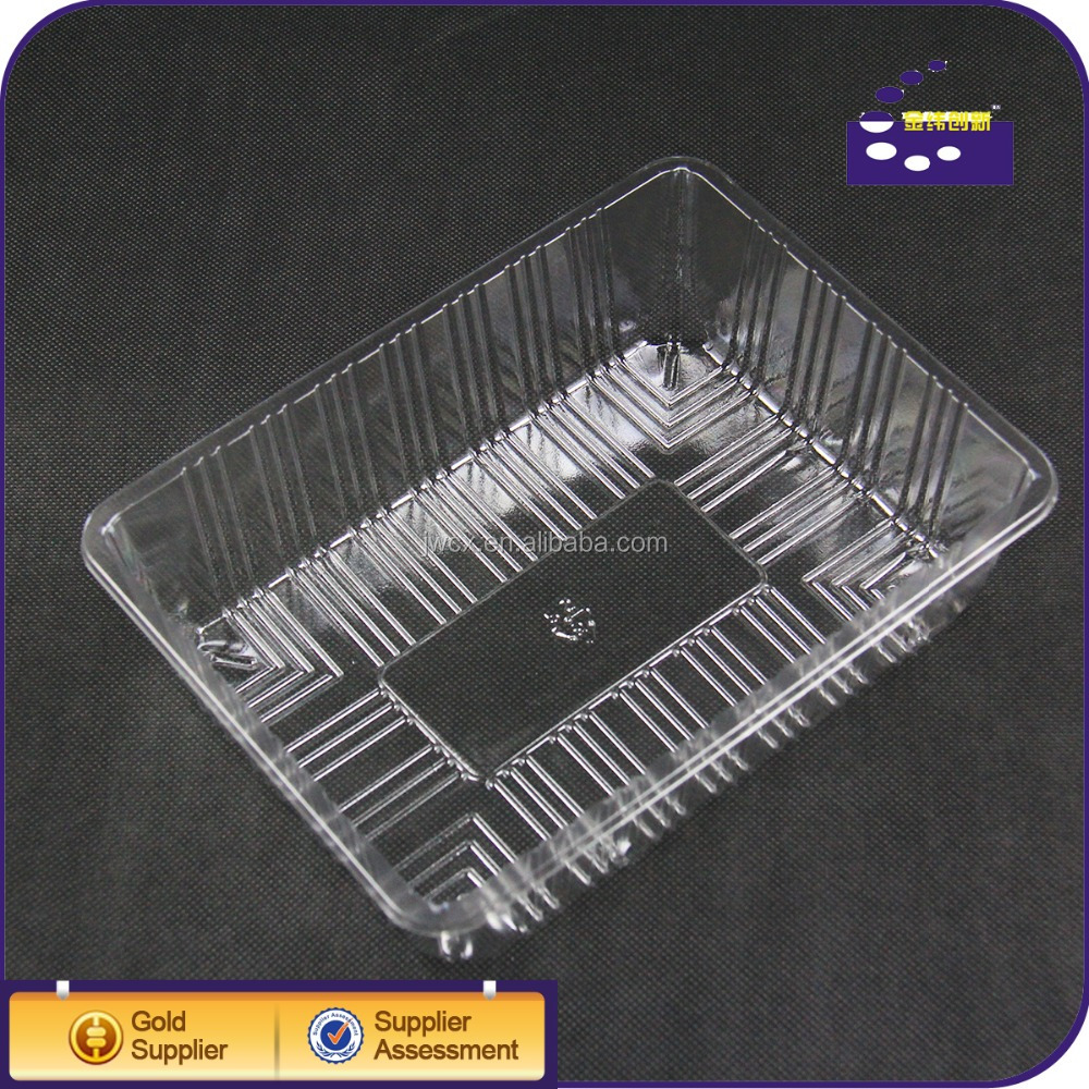 Food Grade Clear PET Vacuum Formed Plastic Vegetable Tray Size 210*160*60mm
