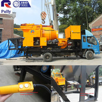 JBT40-B concrete mixer pump with old chassis