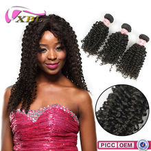 2015 XBL New Arrival Wholesale Price Natural Color Afro Short Hair Extensions