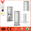 China manufacturer of Wood-Effect Glass Display Cabinet with Mirrored Back and Halogen Spot Light - Silver - Lockable