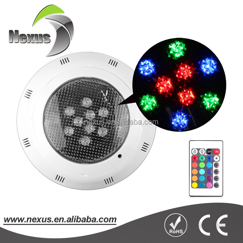 High power white housing color box IP68 RGB led swimming pool underwater light