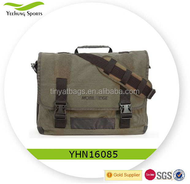 Mens School Shoulder Bag Eco-Friendly Canvas Messenger Bag