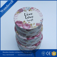 food grade luxury packaging round hat box flowers