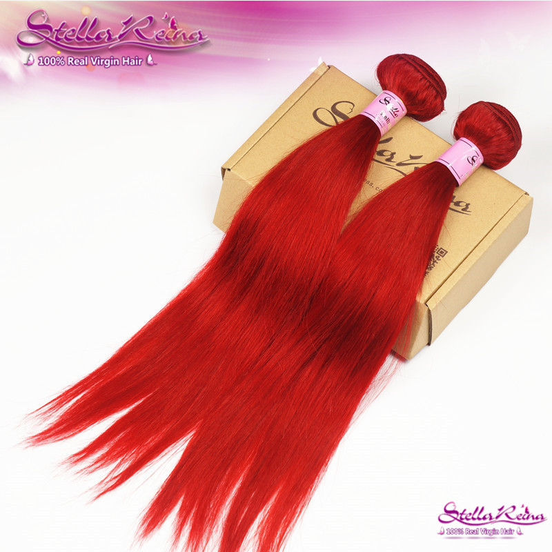 Buy Stella Reina Hair Red Hot Brazilian Remy Hair Silky Straight