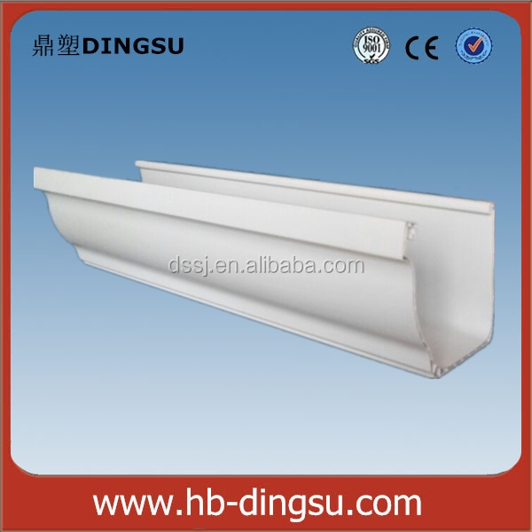 Coffee and white PVC rain gutter channel