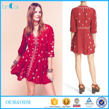 Farmal Summer Ladies Star Gazer' Embroidered Tunic Dress