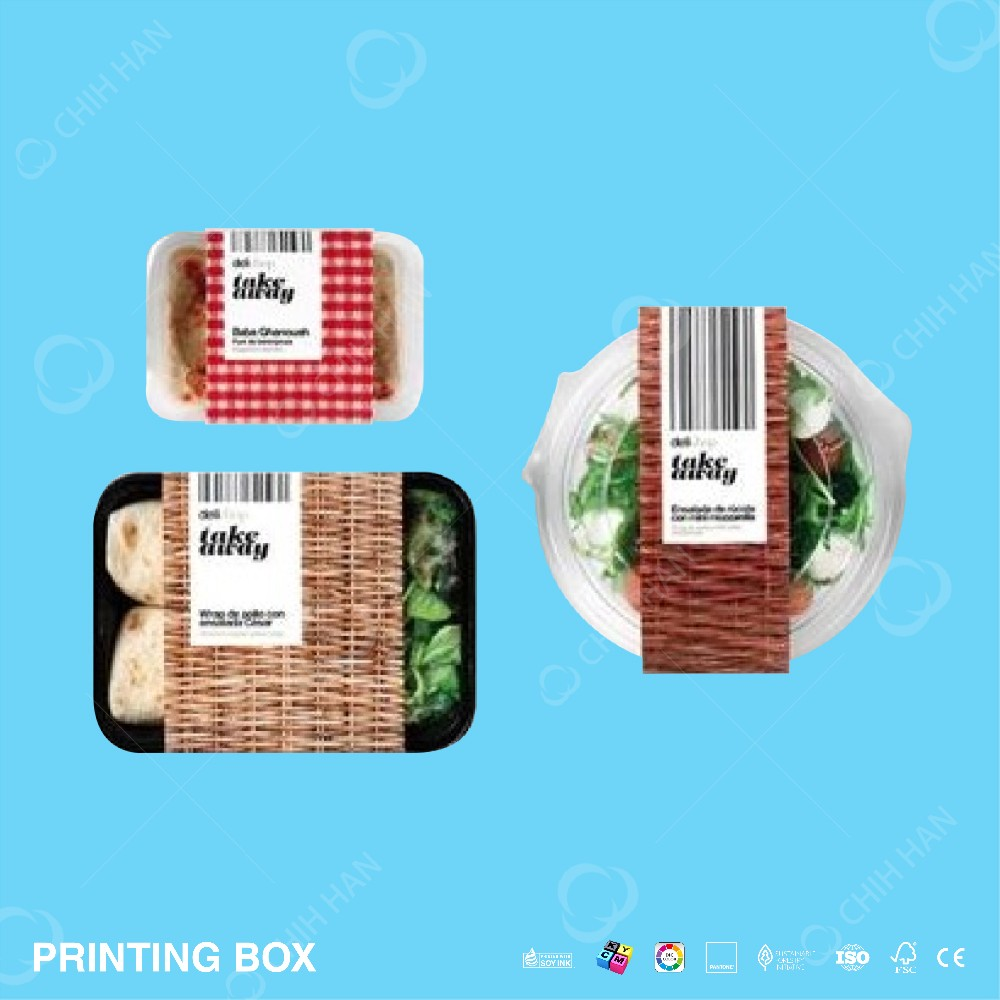Custom Heat Insulation Kraft Food Paper Packaging Box with Sleeve