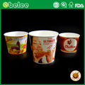 Custom logo disposable fried chicken paper bucket fast food packaging