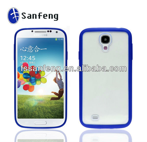 TPU Bumper Frame Hard Matte Frosted Case/Tpu Pc Bumper Case For Galaxy S4/Mobile Phone Frame Bumper Case For Samsung S4