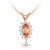 customize jewelry natural yellow sapphire 925 sterling silver 18K rhodium plating necklace