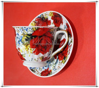 220ml Turkish Design Cup and Saucer porcelain coffee sets tea cups