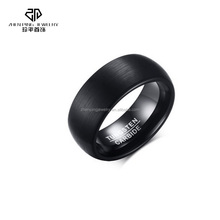 8MM Fancy High Class Black Tungsten Carbide Ring With Matte Finish Wholesale