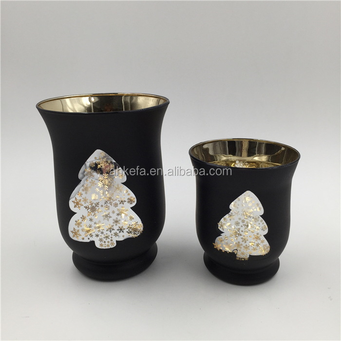 Decor tealight holder glass christmas ornament
