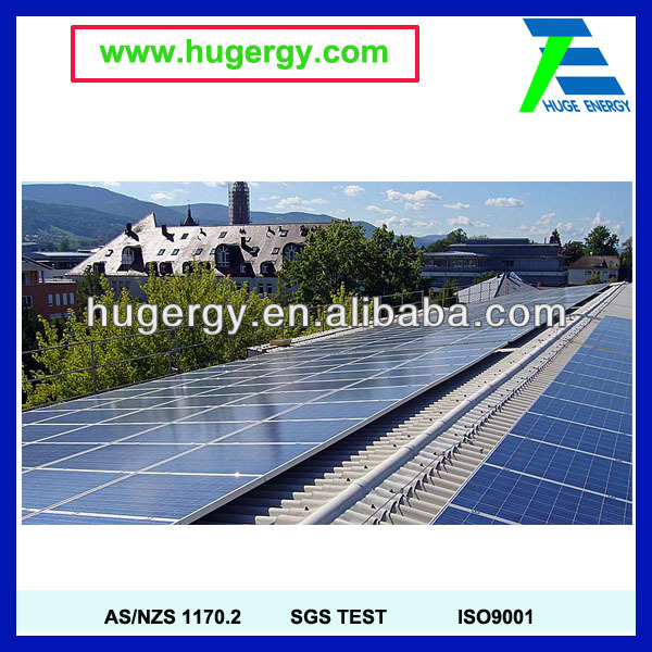 Inclined metal roof aluminum solar panel racking