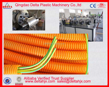 Electric wire protect HDPE PP PVC corrugation hose producing machine