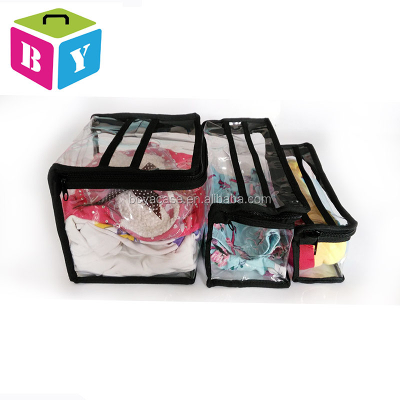2016 transparent clear PVC plastic travel waterproof makeup cosmetic tool bag pouch storage organizer with handle zipper