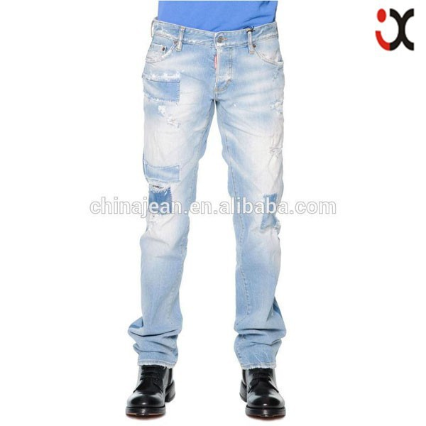2015 hot jeans please made italy for men straight italian design brand jeans pant(JXW600)