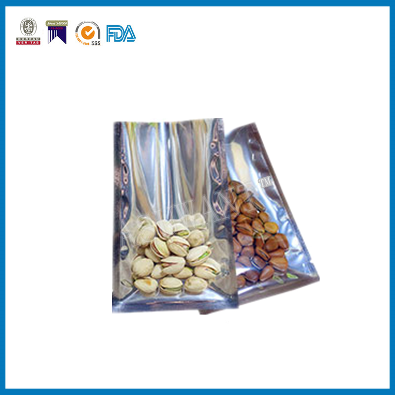 China wholesale clear and foil packaging vacuum bags for nuts, cashew
