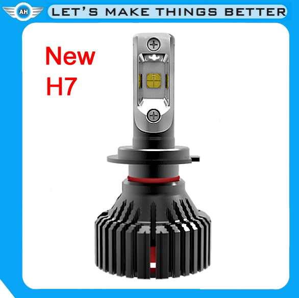 Import Chips New Design Auto decorate lights Super bright LED Car Headlight bulb H7 6500K