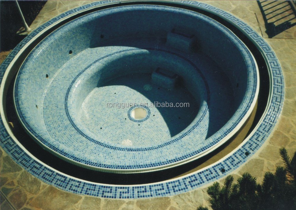 Glass mosaic design for swimming pool SPA round pool