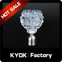 KYOK curtain accessories 22mm polyester cushion fringe ,curtain accessory curtain rod plastic finial 0.8mm thickness