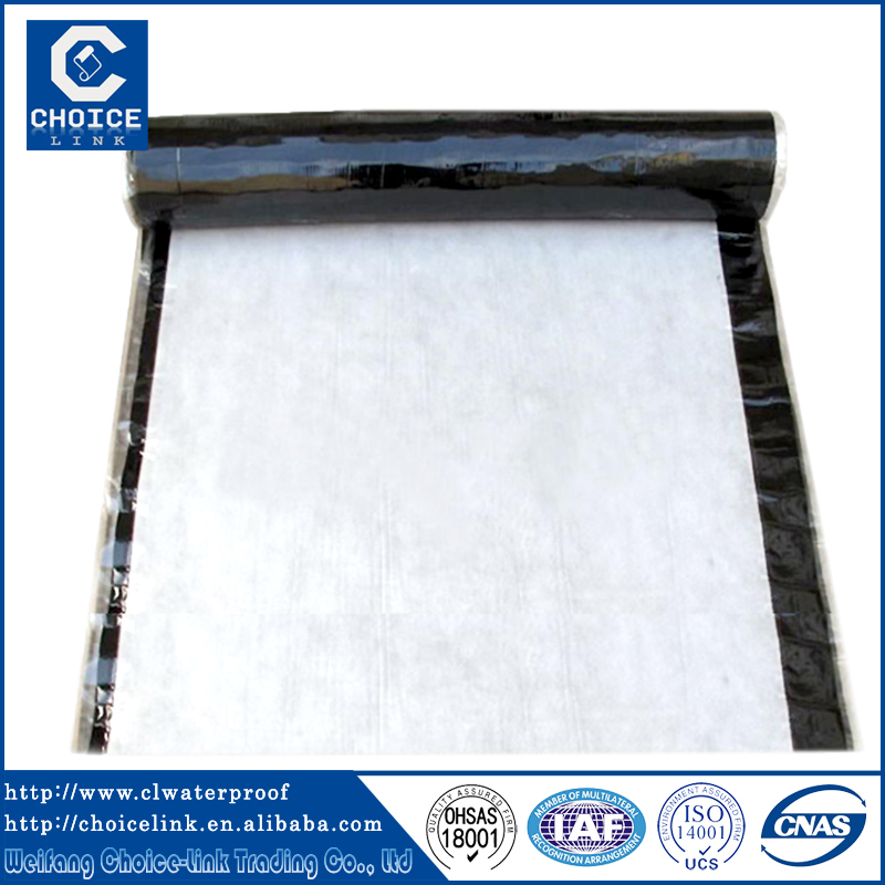 Self adhesive flat roofing rubber membrane for waterproofing