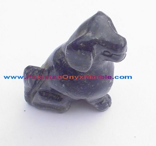 GEMSTONE LAPIS LAZULI DOG SHAPE CARVING ANIMALS HANDICRAFTS