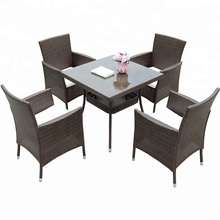 4 seater rattan dining table outdoor garden <strong>furniture</strong>
