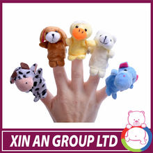 2014 New animals plush finger puppet toy