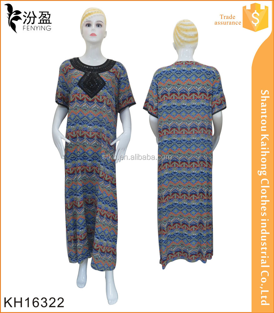 130g 100% arab design everyday maxi dress