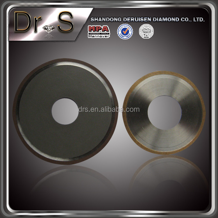Latest innovative products 3a1 vitrified bond diamond grinding wheel for glass