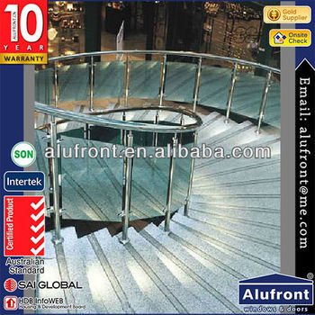High Quality Aluminium Profile Glass Railing For Stair