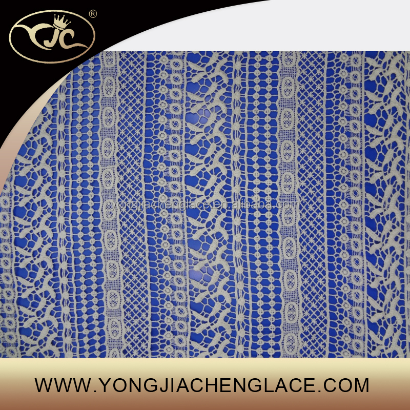 YJC19083 Embroidery custom korean lace fabric