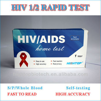 Rapid HIV 1/2 test kits for Self-testing