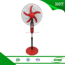 Emergency light electric stand fan with fan 16 inch rechargeable stand fan price