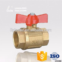 High pressure cw617n butterfly brass valve